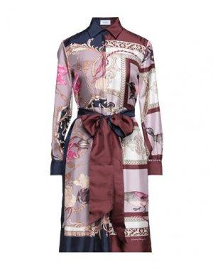 Короткое платье SALVATORE FERRAGAMO. Цвет: сиреневый