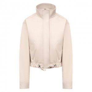 Кожаная куртка Proenza Schouler White Label. Цвет: бежевый
