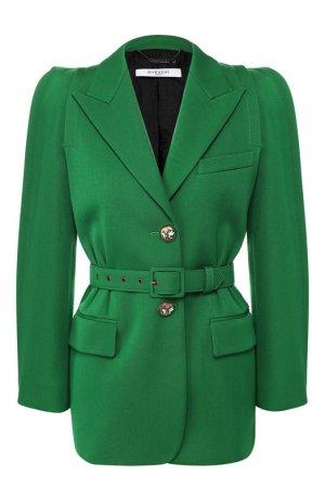 Жакет с поясом Givenchy. Цвет: зеленый