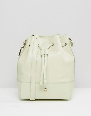 Кожаная сумка на плечо Modalu. Цвет: зеленый