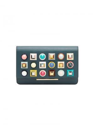 Rainbow clutch bag Fendi. Цвет: зеленый