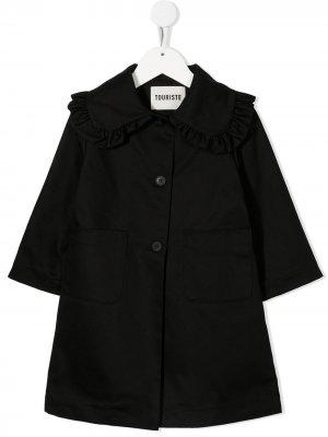 Пиджак с оборками Touriste. Цвет: черный