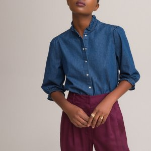 Блуза LaRedoute. Цвет: синий