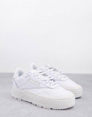 Белые кроссовки на платформе Club C Double Geo-Белый Reebok
