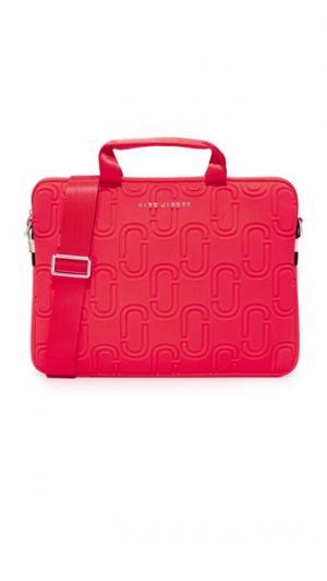 Неопреновая сумка Commuter с двумя буквами J для ноутбука диагональю экрана 13 дюймов Marc Jacobs. Цвет: оранжево-красный