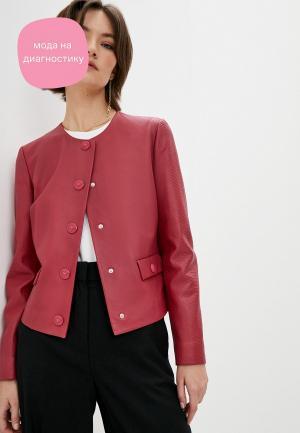 Куртка кожаная Escada Sport. Цвет: красный