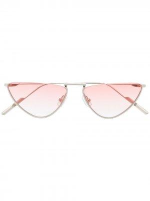 Солнцезащитные очки Bib в оправе кошачий глаз Gentle Monster. Цвет: красный