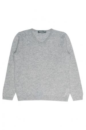 Кашемировый серый пуловер Bonpoint. Цвет: серый