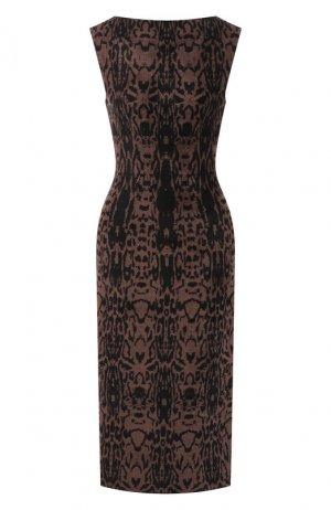 Платье с принтом Alaia. Цвет: черный