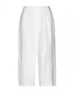 Брюки-капри OLIVIA HOPS. Цвет: белый