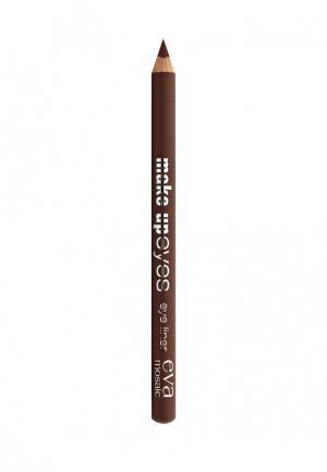 Карандаш для глаз Eva Mosaic Make Up Eyes, 1,1 г, Темный Шоколад. Цвет: коричневый