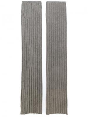 Перчатки без пальцев Rick Owens. Цвет: серый