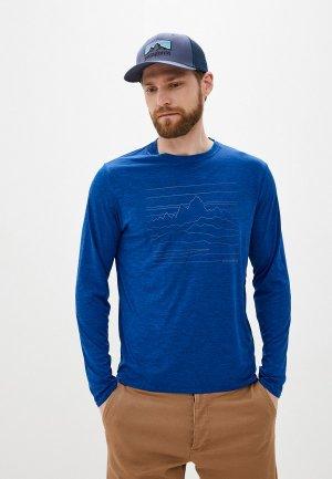 Лонгслив Patagonia Ms L/S Cap Cool Daily Graphic Shirt. Цвет: синий