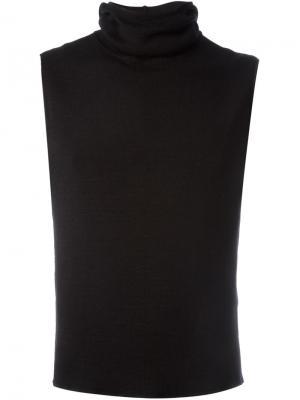 Трикотажный жилет с капюшоном Engineered Garments. Цвет: чёрный