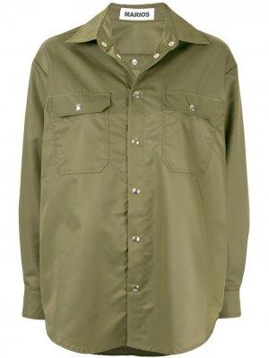 Куртка-рубашка Marios. Цвет: зеленый