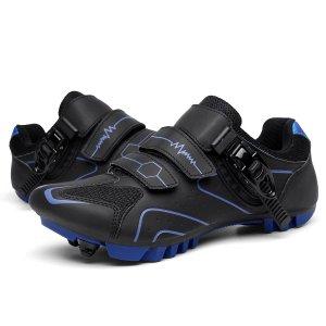 Мужские велосипедные туфли с пряжкой SHEIN. Цвет: чёрный