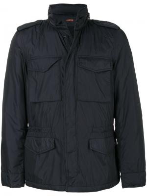 Куртка на молнии Aspesi. Цвет: синий