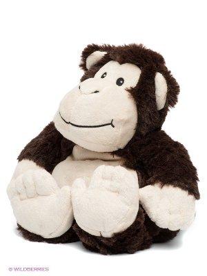 Игрушка-грелка Обезьянка Cozy Plush. Цвет: темно-коричневый