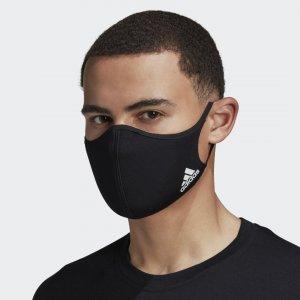 Набор из трех масок на лицо M/L Athletics adidas. Цвет: черный