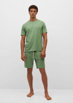 Комплект пижама из органического хлопка - Begur Mango. Цвет: зеленый