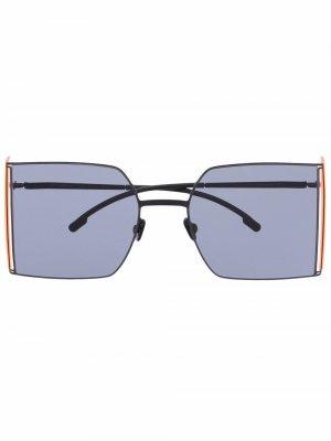 Солнцезащитные очки-авиаторы из коллаборации с Helmut Lang Mykita. Цвет: черный