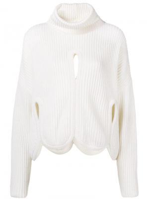 Cut out detail sweater Antonio Berardi. Цвет: белый