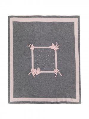 Декорированное одеяло Aletta. Цвет: серый