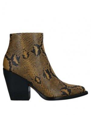 Полусапоги и высокие ботинки CHLOÉ. Цвет: желтый