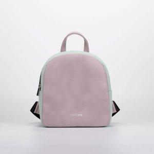 Рюкзак, отдел на молнии, цвет пудра/зелёный TEXTURA