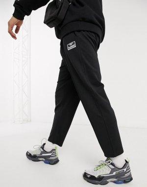Черные брюки до щиколотки со шнурком на поясе Hive-Черный Hummel