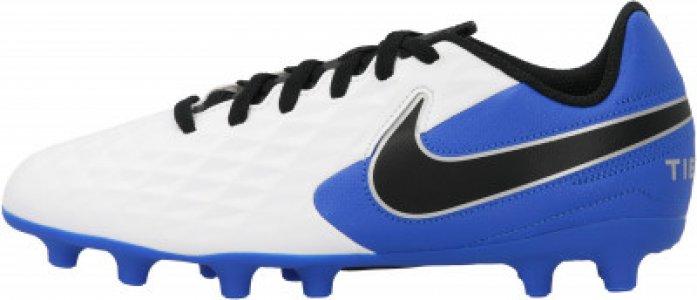 Бутсы для мальчиков Jr Legend 8 Club FG/MG, размер 31 Nike. Цвет: белый