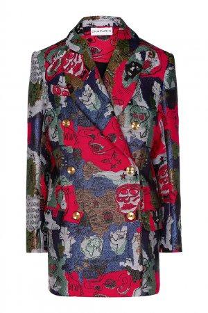 Жакет из жаккардовой ткани Chapurin. Цвет: multicolor