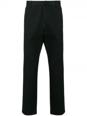 Классические брюки с вышитым логотипом Gucci. Цвет: черный