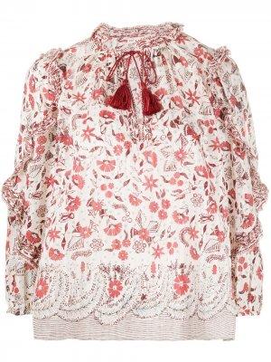 Блузка Azalea с цветочным принтом Ulla Johnson. Цвет: белый
