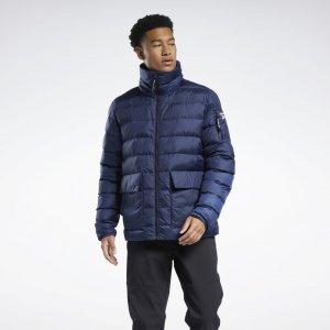 Утепленная куртка-бомбер Outerwear Urban Reebok. Цвет: vector navy