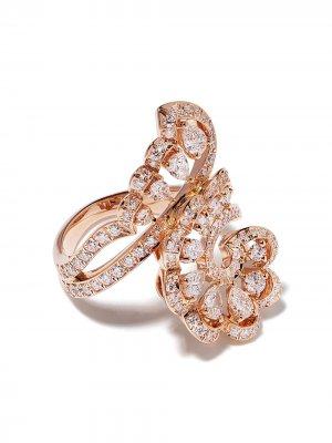 Кольцо из розового золота с бриллиантами Chopard. Цвет: розовый