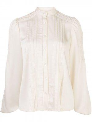 Блузка Balor с плиссировкой Alexis. Цвет: белый