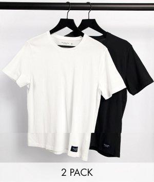 Набор из 2 футболок черного и белого цветов с логотипом -Многоцветный Abercrombie & Fitch