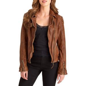 Куртка укороченная с застежкой на молнию, демисезонная JOE BROWNS. Цвет: табачный