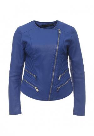 Куртка кожаная Silvian Heach SI386EWRHW10. Цвет: синий