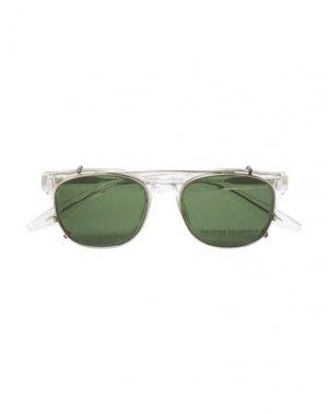 Солнечные очки BARTON PERREIRA. Цвет: зеленый