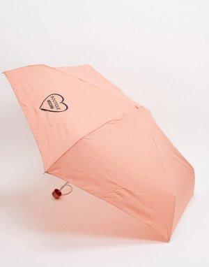 Розовый маленький зонтик Moschino