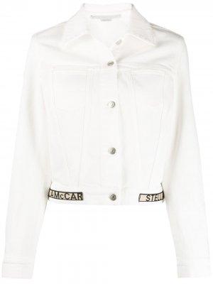 Укороченная джинсовая куртка Stella McCartney. Цвет: белый