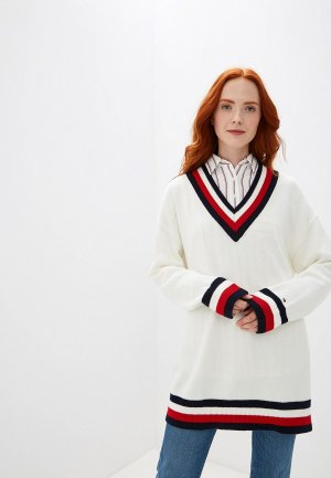 Пуловер Tommy Hilfiger. Цвет: белый
