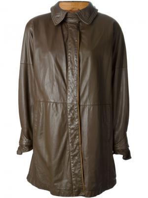 Пальто на пуговицах Gianfranco Ferré Pre-Owned. Цвет: коричневый