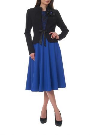 Жакет с платьем Mannon. Цвет: черный, синий