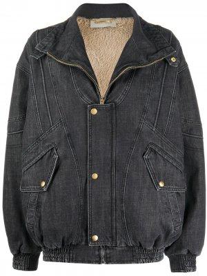 Джинсовая куртка оверсайз на молнии Alberta Ferretti. Цвет: черный