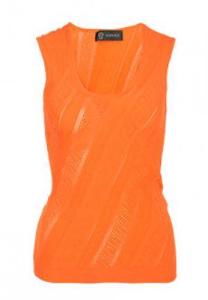 Майка VERSACE. Цвет: оранжевый