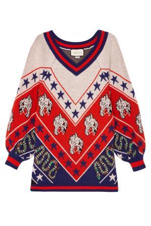 Трехцветный шерстяной пуловер Gucci. Цвет: multicolor