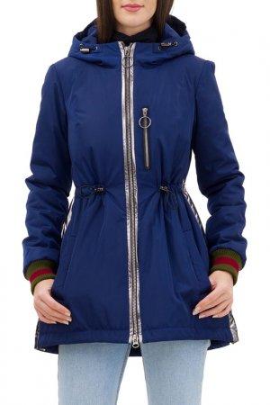 Куртка-бомбер Pavel Yerokin. Цвет: темно-синий,серебристый